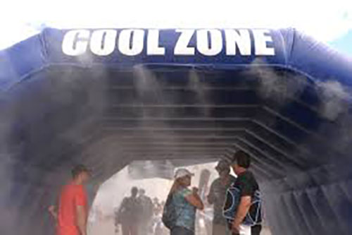 Cool Zone Inflatable Misting system